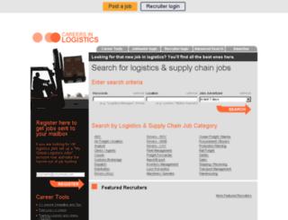 careersinlogistics.co.uk screenshot