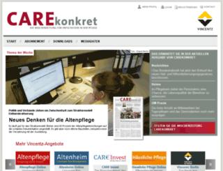 carekonkret.vincentz.net screenshot