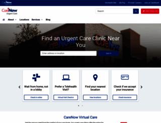 carenow.com screenshot