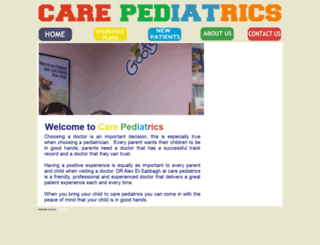 carepediatrics.homestead.com screenshot