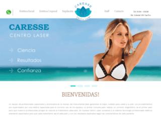 caressecentrolaser.com.ar screenshot