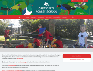 carewpeelforest.ultranet.school.nz screenshot