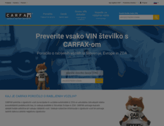 carfax.si screenshot