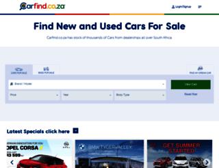 carfind.co.za screenshot