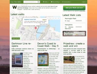 carfreewalks.org screenshot
