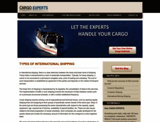 cargo-experts.net screenshot