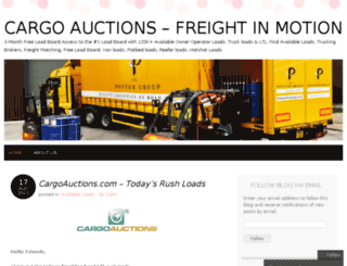 cargoauctions.wordpress.com screenshot