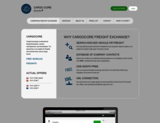 cargocore.com screenshot