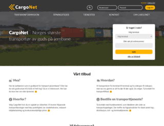 cargonet.no screenshot