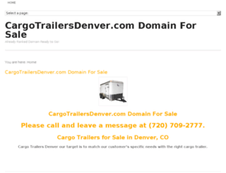 cargotrailersdenver.com screenshot