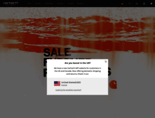 carhartt-wip.com screenshot
