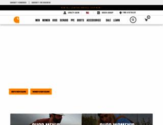 carhartt.com screenshot