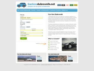 carhiredubrovnik.net screenshot