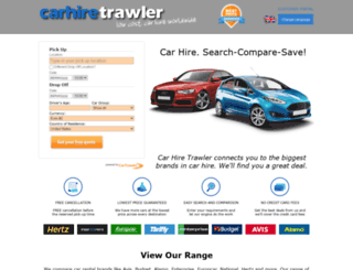 carhiretrawler.com screenshot