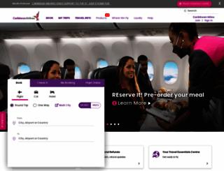 caribbean-airlines.com screenshot