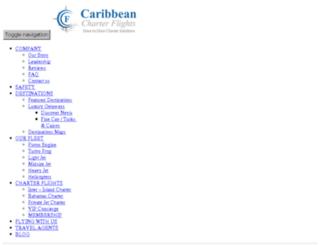 caribbean-charter-flights.com screenshot