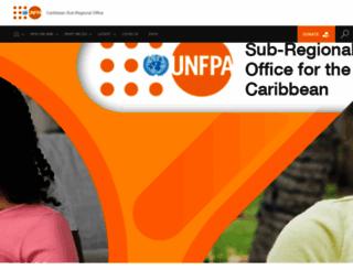 caribbean.unfpa.org screenshot