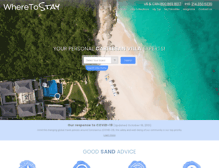 caribbean.wheretostay.com screenshot