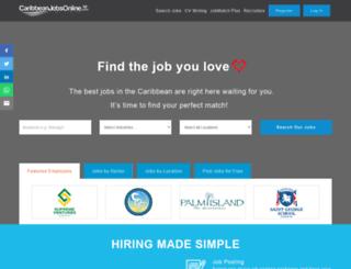 caribbeanjobsonline.com screenshot