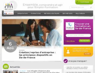 carif-idf.org screenshot