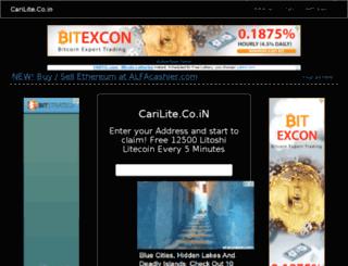 carilite.co.in screenshot