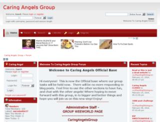 caringangels.createaforum.com screenshot