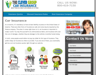 carinsurance.theclevergroup.com screenshot