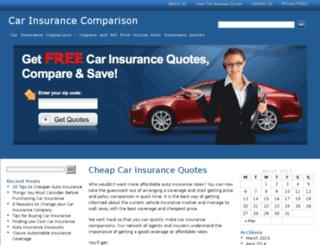 carinsurancecomparison2u.com screenshot