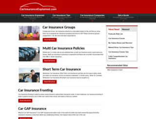 carinsuranceexplained.com screenshot