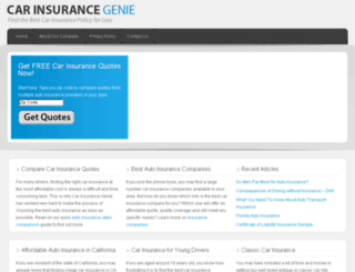 carinsurancegenie.com screenshot