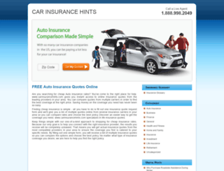 carinsurancehints.com screenshot