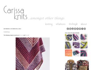 carissaknits.com screenshot