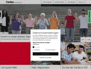 caritas-linz.at screenshot