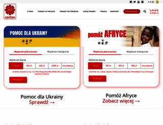 caritas.pl screenshot