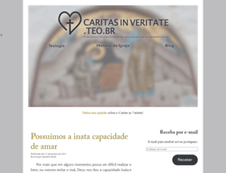 caritasinveritate.teo.br screenshot