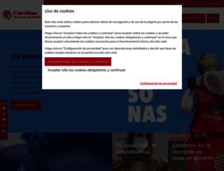 caritasmadrid.org screenshot