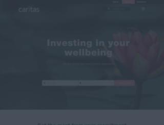 caritasrecruitment.com screenshot