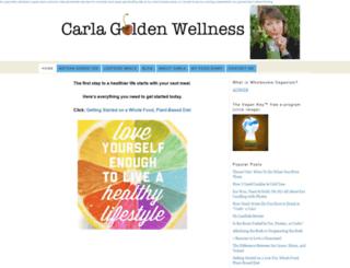 carlagoldenwellness.com screenshot