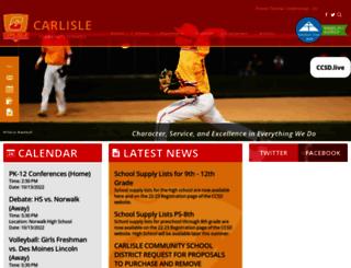 carlisle.k12.ia.us screenshot
