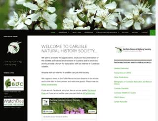 carlislenats.org.uk screenshot