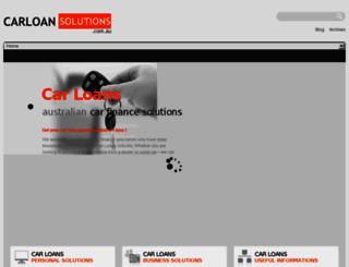 carloansolutions.com.au screenshot