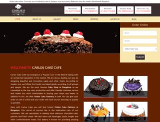 carloscakecafe.in screenshot