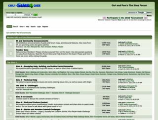 carls-sims-3-forum.com screenshot