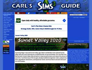 carls-sims-3-guide.com screenshot