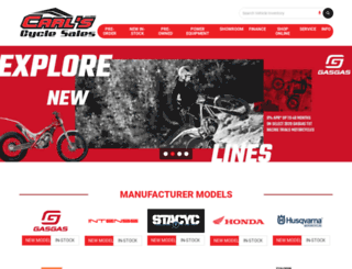 carlscycle.com screenshot