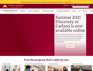 carlsonschool.umn.edu screenshot