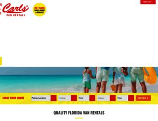 carlsvanrentals.com screenshot