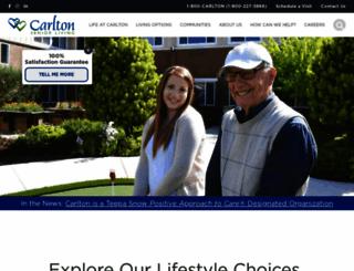 carltonseniorliving.com screenshot