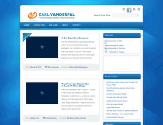 carlvanderpal.com screenshot