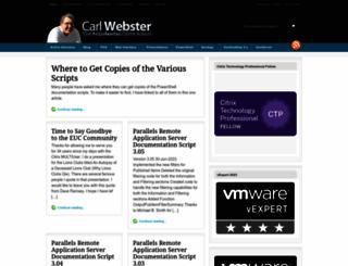 carlwebster.com screenshot